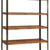 Amish Harper Tall Reclaimed Lumber Bookcase on Wheels