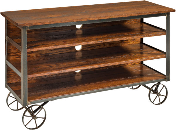 Amish Harper TV Cart