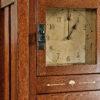 Amish Morgan Clock Detail