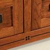 Amish Brayfort TV Cabinet Inlay Detail