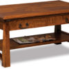 Amish Artesa Coffee Table with Drawer