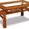 Amish Glass Top Artesa Coffee Table