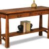 Amish Artesa Sofa Table with Drawer