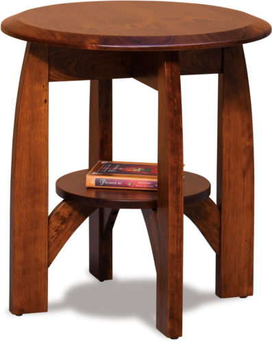 Amish Boulder Creek Round End Table