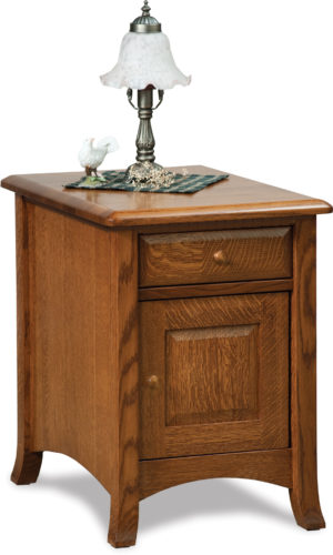 Amish Carlisle Enclosed End Table with Drawer