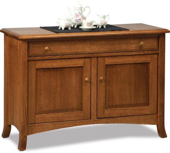 Amish Carlisle Enclosed Sofa Table with Drawer