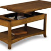 Amish Carlisle Open Coffee Table with Lift-Top