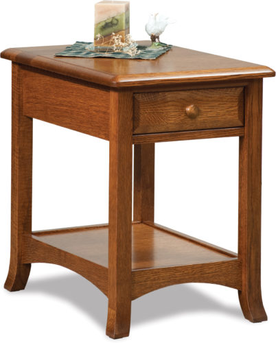 Amish Carlisle Open End Table with Drawer