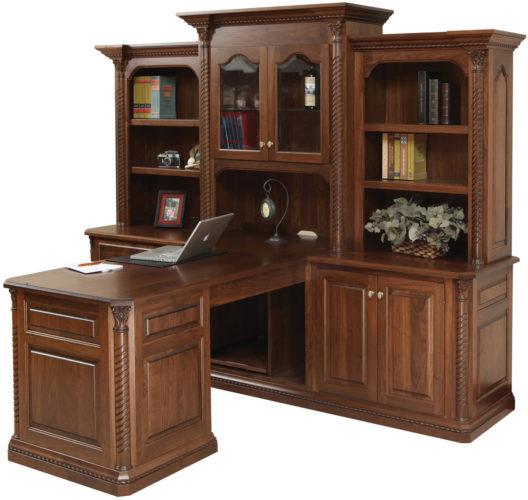 Amish Lexington Partner's Desk and Hutch