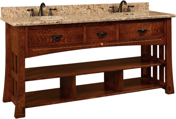 Amish Mesa Large Double Basin Free Standing Sink