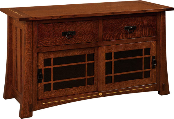 Amish Morgan 54 With Drawers TV Cabinet