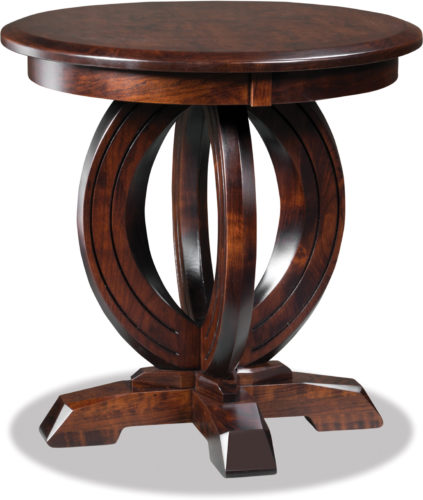 Amish Saratoga Round End Table