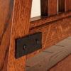 Amish Garber Hammered Iron Strap Detail
