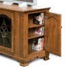Amish Hoosier Heritage Side Door TV Stand Open