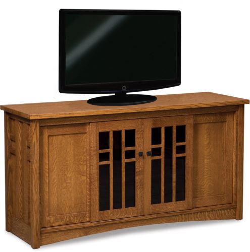 Amish Kascade Four Door Tall TV Stand