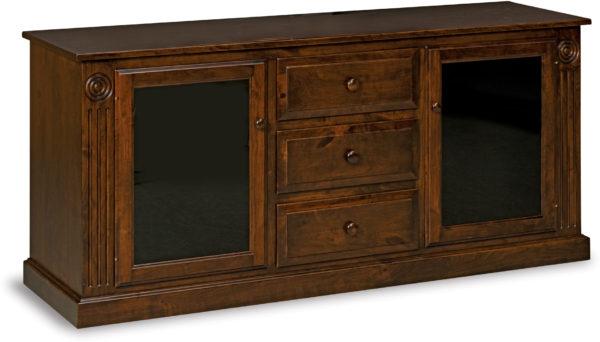 Amish Victorian Three Drawer TV Stand
