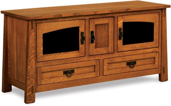 Amish Modesto Three Door TV Stand
