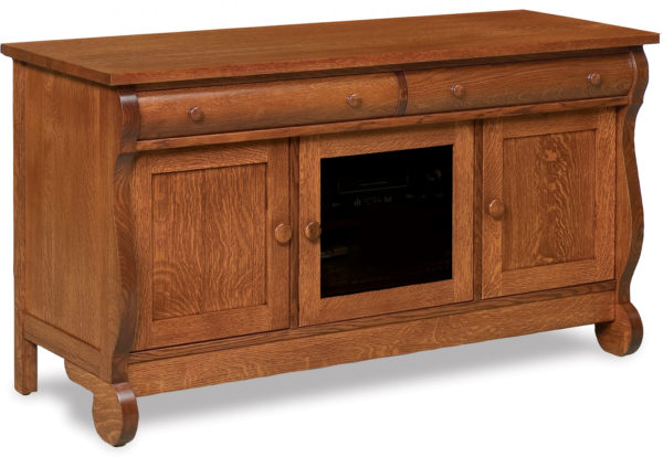 Amish Old Classic Sleigh Three Door TV Stand