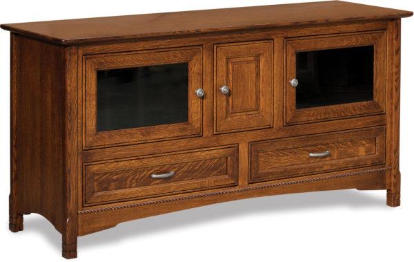 Amish West Lake Three Door TV Stand