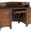 Amish Springhill Computer Desk With Topper