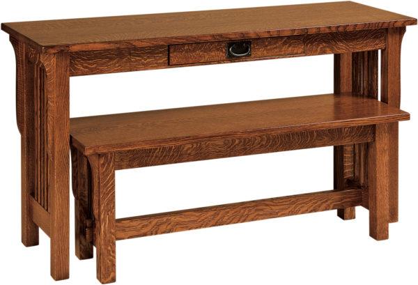 Amish Landmark Nesting Sofa Table and Bench