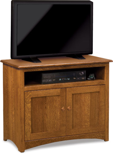 Amish Mission Two Paneled Door TV Stand