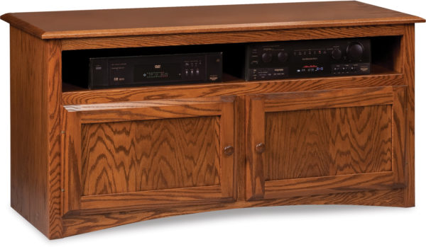 Amish Durham Two Door TV Stand with Media Opening