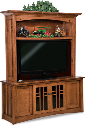 Amish Kascade Two-Piece TV Cabinet