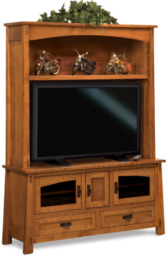 Amish Modesto Two-Piece TV Cabinet