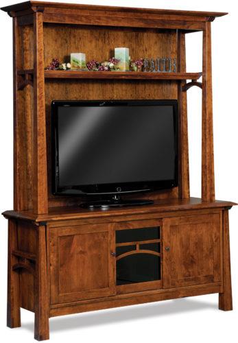 Amish Artesa Two-Piece Media Cabinet