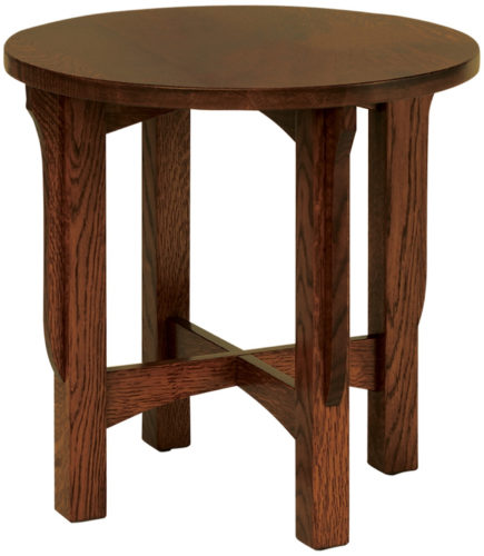 Amish Landmark Round End Table