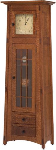 Amish McCoy Glass Panel Door Clock