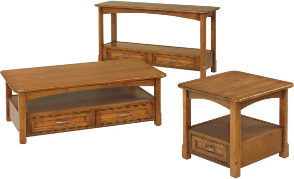Amish West Lake Open Occasional Table Collection