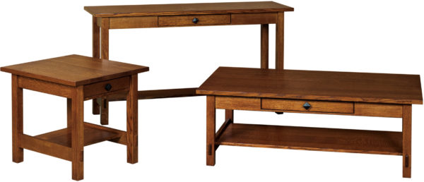 Amish Spring Hill Open Occasional Table Set