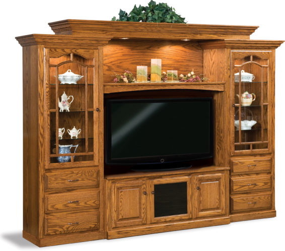 Amish 6-Piece Hoosier Heritage Wall Unit