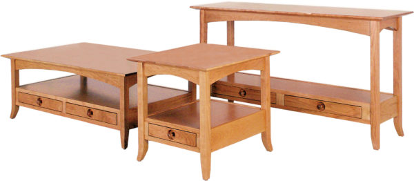 Amish Shaker Hill Open Occasional Table Collection
