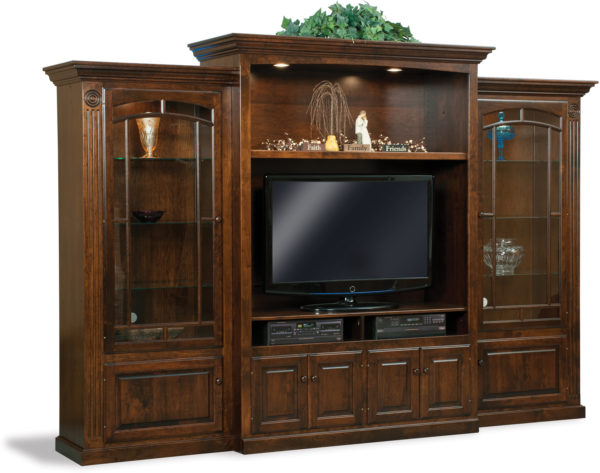 Amish Victorian Style Three Piece Wall Unit