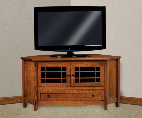 Amish Centennial Two Door Corner TV Stand