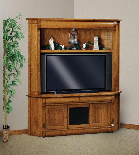 Amish Old Classic Sleigh Corner TV Hutch