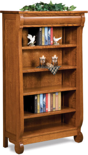 Amish Old Classic Sleigh 5 ft. Bookcase