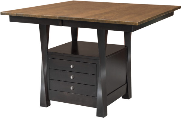 Amish Lexington Cabinet Dining Table