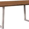 Amish Lifestyle Trestle Table with Chrome Base