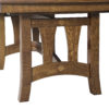 Amish Naperville Trestle Dining Table Detail