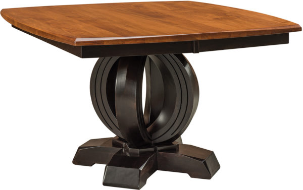 Amish Saratoga Single Pedestal Dining Table