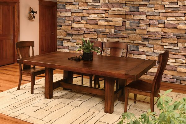 Amish Wellington Trestle Dining Table Room Collection