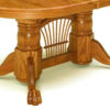 Amish Double Pedestal Dining Table Sheaf