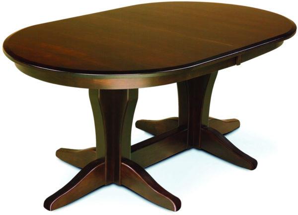 Vintage Double Pedestal Table