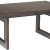 Amish Kalispel Dining Table with Charcoal Stain