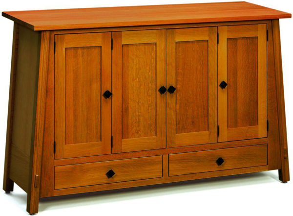 Amish McCoy Wood Leaf Storage Cabinet