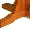 Amish Single Pedestal Mission Table Feet